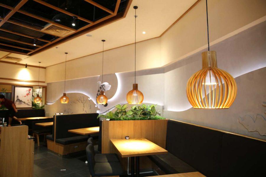Đèn trang trí cho quán ăn nhật Tại Sư Vạn Hạnh mall – số 11 Sư Vạn Hạnh