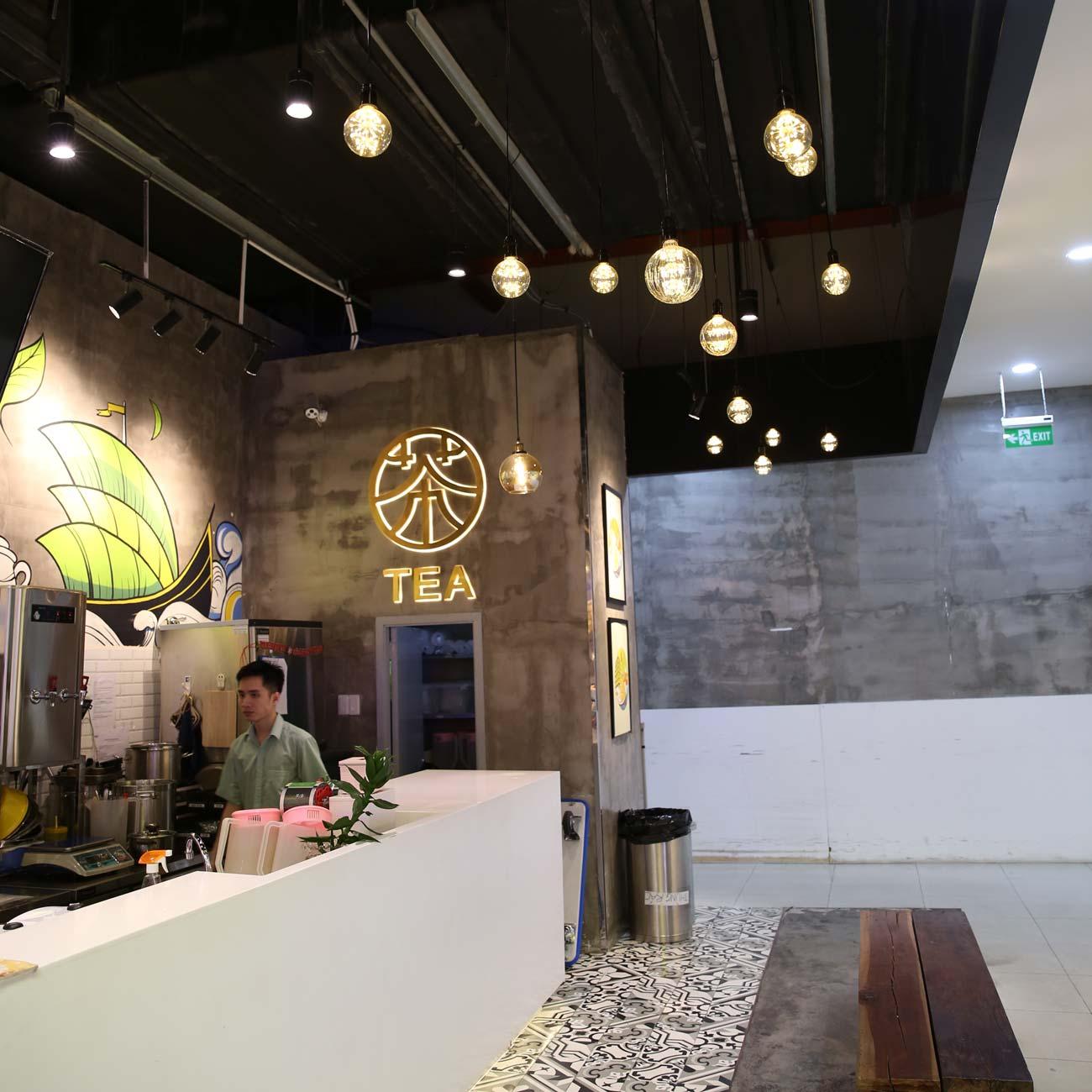 Đèn trang trí cho quán trà sữa tại Sư Vạn Hạnh Mall – Số 11 Sư Vạn Hạnh