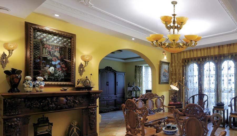 đèn trang trí đồng cho phòng khách