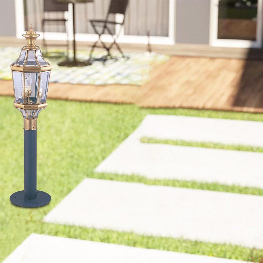 Đèn trụ cổng ngoài trời Đồng cổ điển đơn giản Venus 500016-03