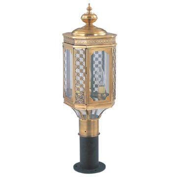 Đèn cây sân vườn Đồng hoa văn cổ điển cao cấp Venus 500077-03