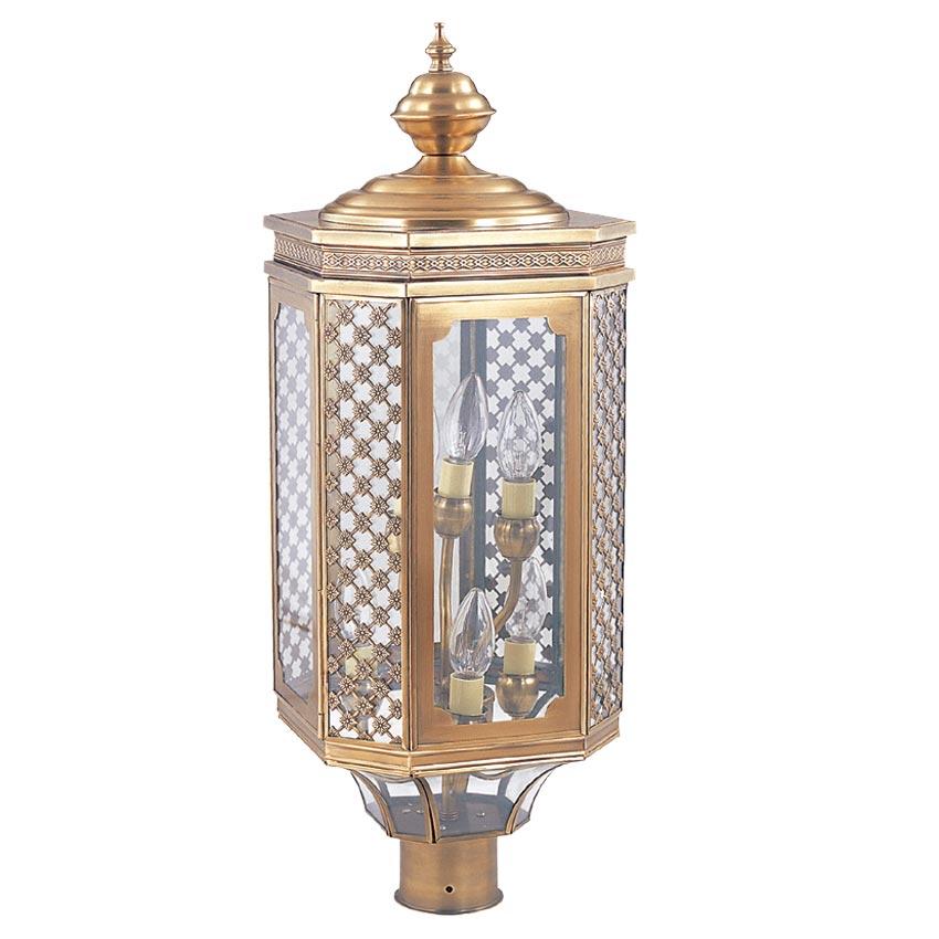 Đèn trụ cổng ngoài trời Đồng hoa văn cổ điển cao cấp Venus 500077-06