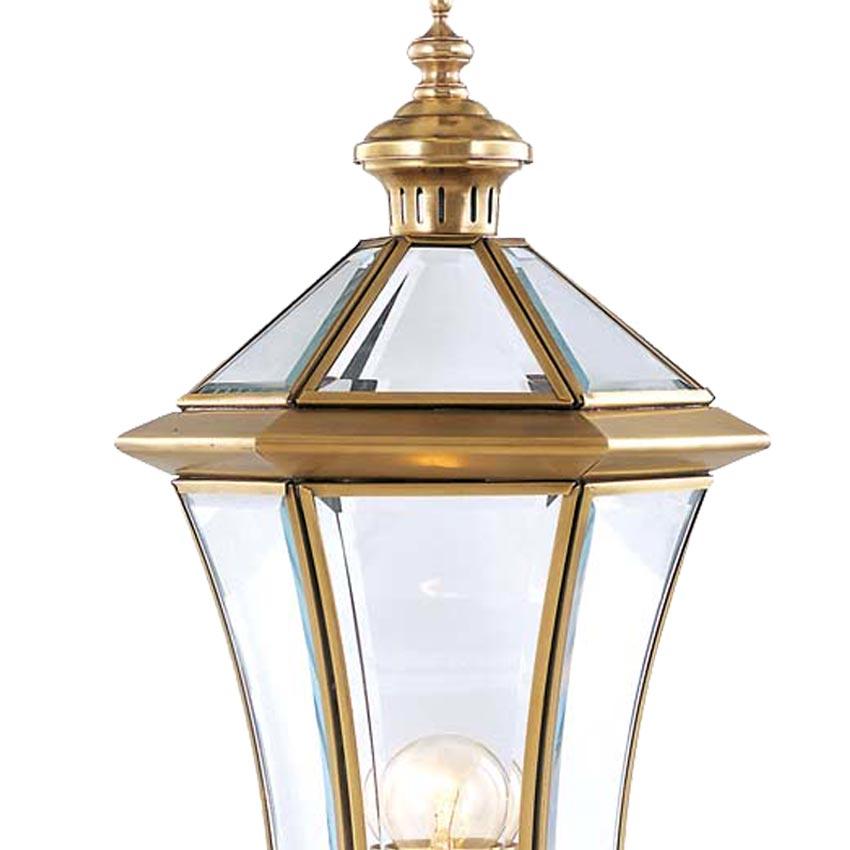 Đèn trụ cổng ngoài trời Đồng hình lập phương cổ điển Venus 500140-01