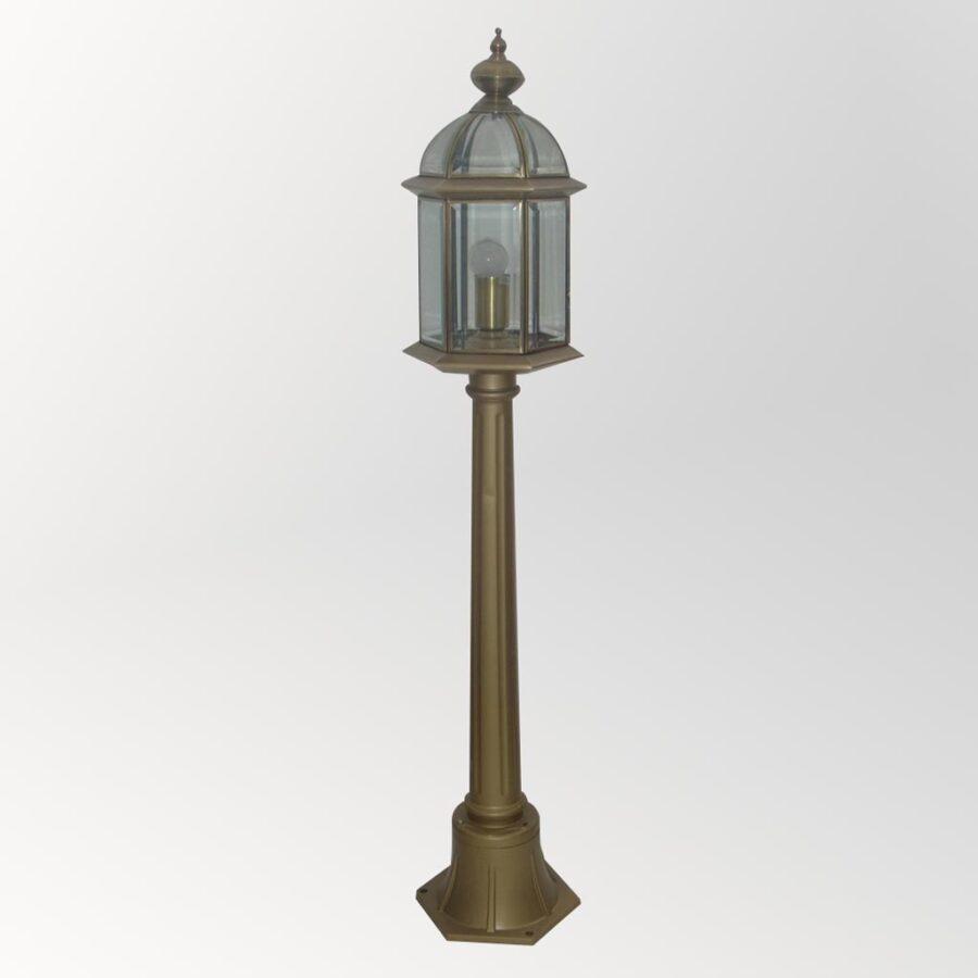 Đèn trụ cao soi sân vườn Đồng cổ điển Venus 500166-01B