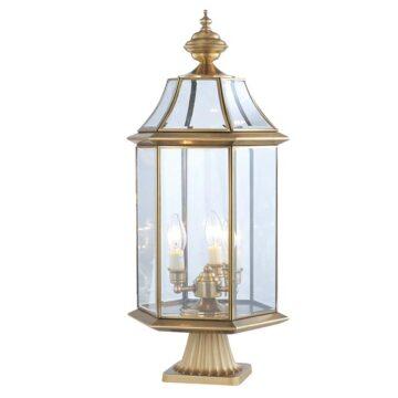 Đèn trụ cổng sân vườn Đồng lồng nến cổ điển Venus 500182-03