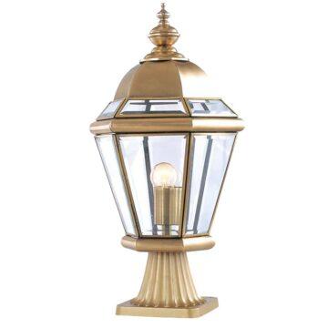 Đèn trụ cổng hàng rào Đồng tròn hiện đại Venus 500183-01B
