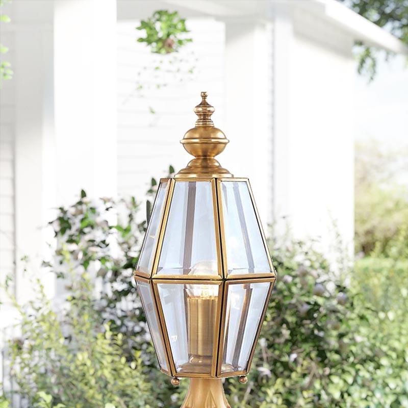 Đèn trụ cổng hàng rào Đồng kiểu ngọn thấp cổ điển Venus 500184-01