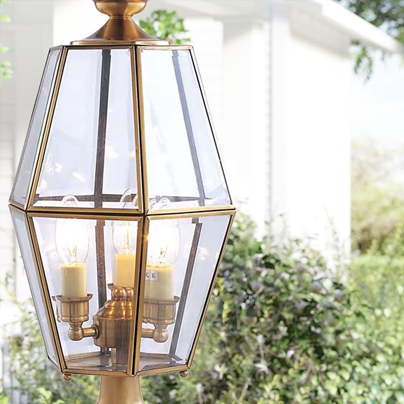 Đèn trụ cổng hàng rào Đồng khung kim cương Venus 500184-03