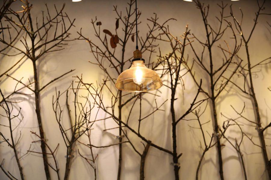 đèn thả trang trí chóa thủy tinh