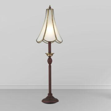Đèn cây đồng phòng khách thân sắt chụp thủy tinh Venus 600034-01