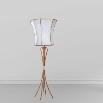 Đèn cây đồng phòng khách 5 chân cong chụp thủy tinh Venus 700029-01