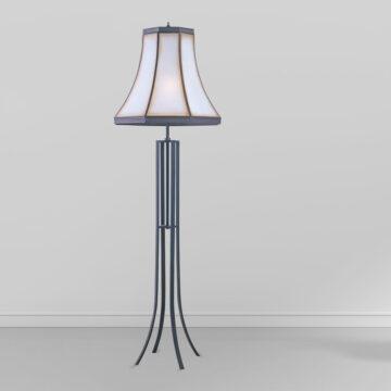 Đèn cây đồng phòng khách chân cong vintage Venus 700032-01