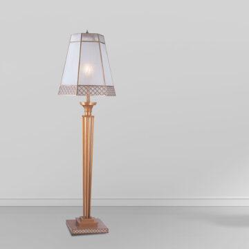 Đèn cây đồng phòng khách chụp thủy tinh lục giác cổ điển Venus 700037-01