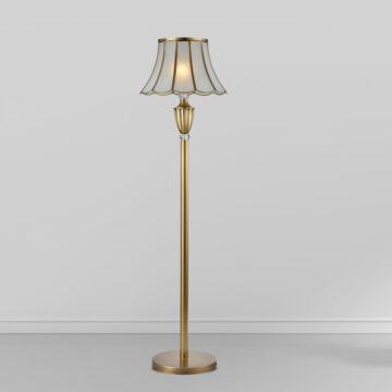 Đèn cây đồng phòng khách chụp nón thủy tinh cổ điển Venus 700173-01