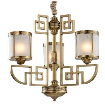 Đèn Chùm Đồng Kiểu Châu Âu Cổ Điển Venus 80050-03 3 tay bóng nến