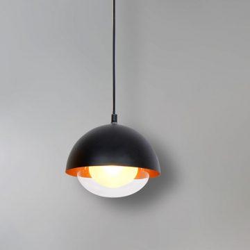 Đèn thả trần trang trí chóa nhôm đen hình bán cầu Venus MD019P-1