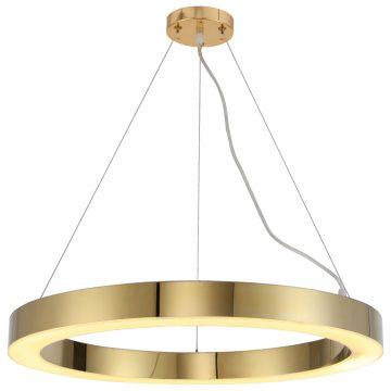 Đèn thả trần trang trí vòng tròn thép không gỉ (inox) 100cm Venus MD8026