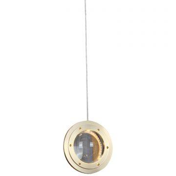 Đèn thả trần trang trí khung sắt tròn chao pha lê trong suốt Venus MD8953-1