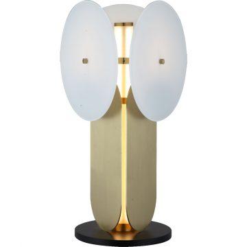 Đèn để bàn trang trí thủy tinh & sắt nghệ thuật độc đáo Venus MD8933-1