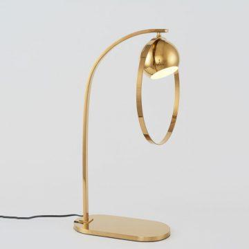 Đèn để bàn trang trí thép (inox) hiện đại màu vàng gold Venus MT2200