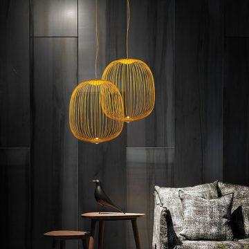 Đèn thả trần trang trí lồng sắt tròn hiện đại Venus MD7630-C