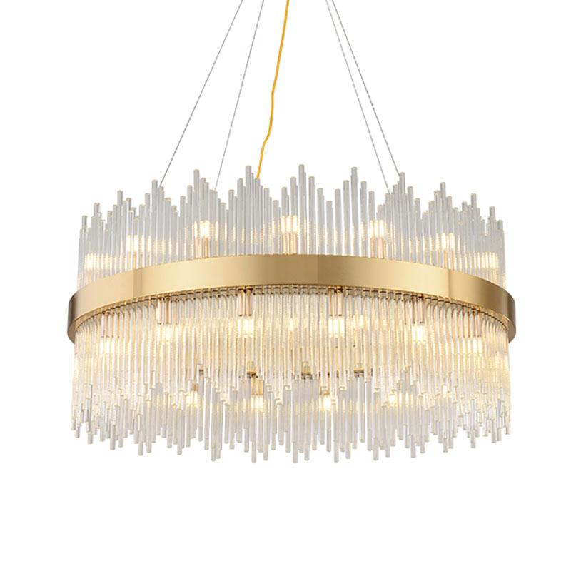 đèn chùm vòng pha lê hiện đại