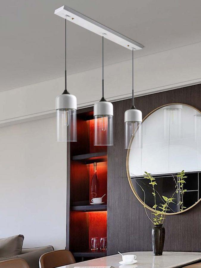 đèn thả bàn ăn thủy tinh hiện đại