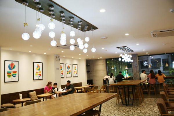 đèn thả quán cafe