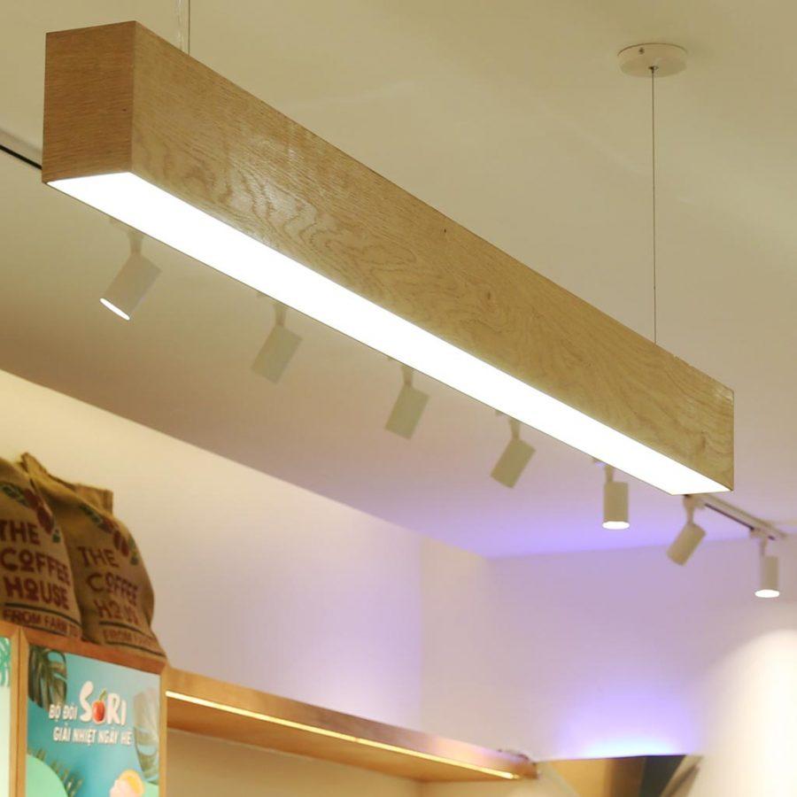 Đèn trang trí hiện đại tại quán café The Coffee House
