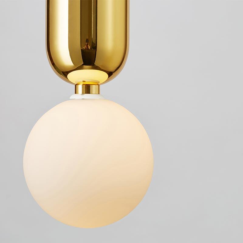 Đèn thả thủy tinh bóng tròn hiện đại Venus QS820