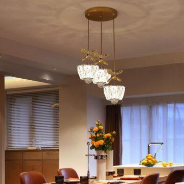 Đèn thả trang trí bàn ăn pha lê cao cấp