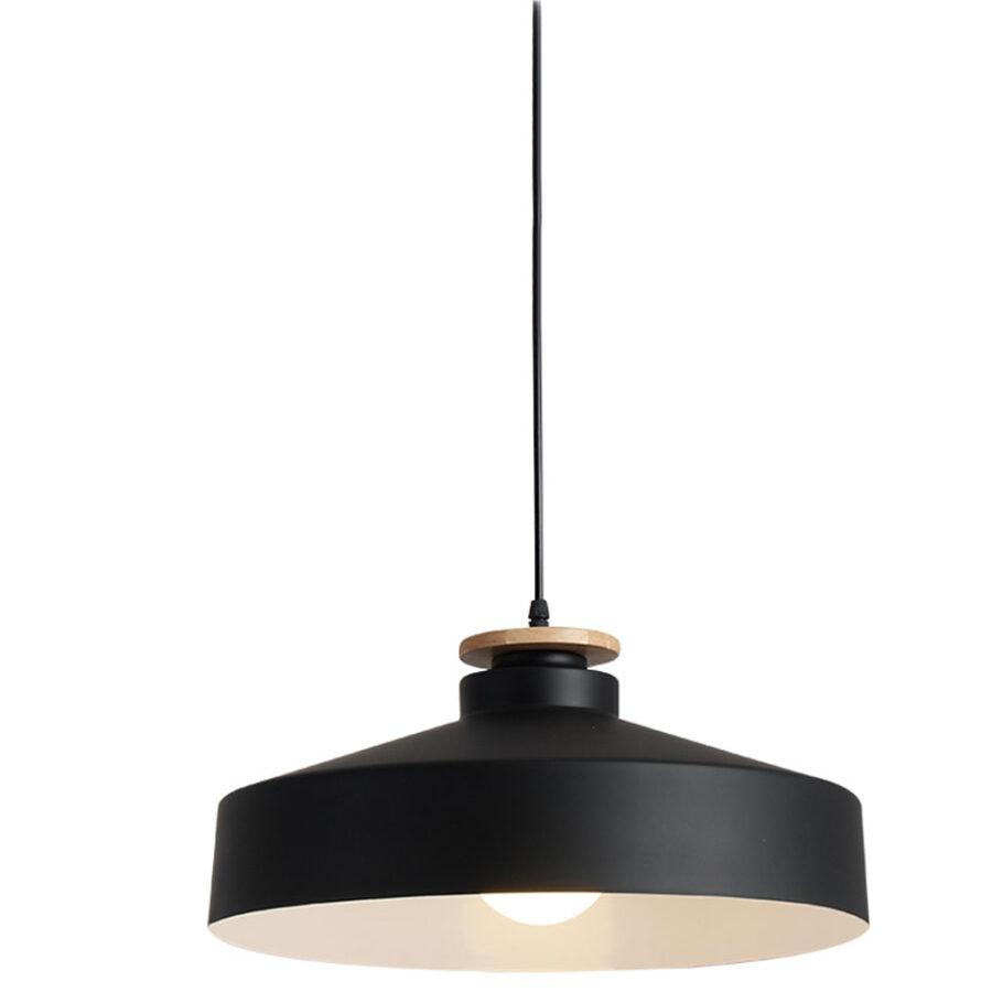Đèn thả nhôm sắt chuôi gỗ đơn giản Venus KD88-91