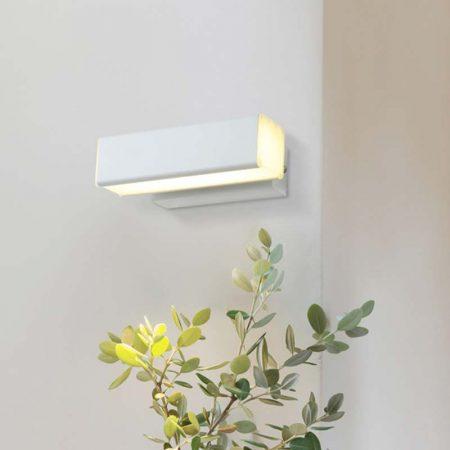 đèn hắt tường hiện đại màu trắng hình chữ nhật điều chỉnh góc sáng