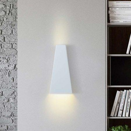 đèn hắt tường hiện đại màu trắng hình thoi 2 đầu sáng