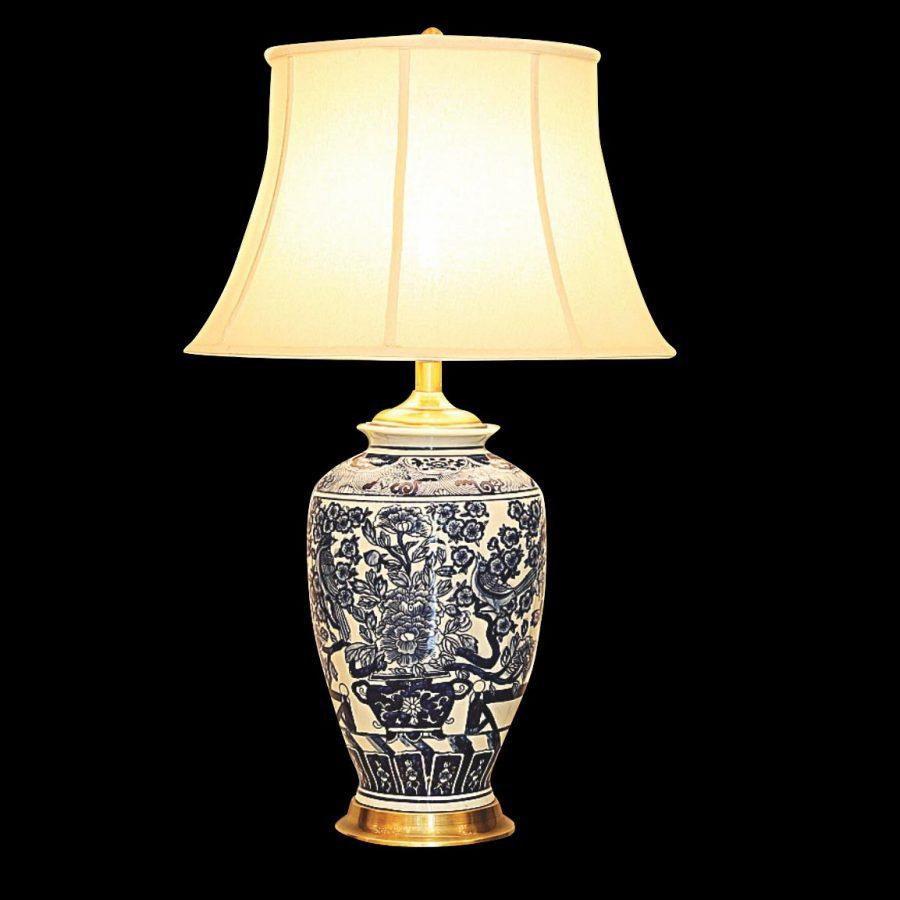 đèn ngủ để bàn hoa văn gốm sứ Nhật Bản