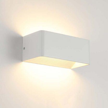 đèn hắt tường hiện đại màu trắng hình chữ nhật nhỏ