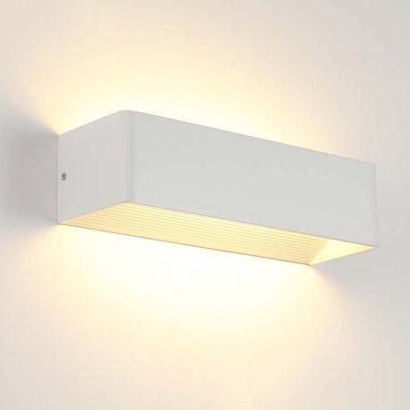 đèn hắt tường hiện đại màu trắng hình chữ nhật đơn giản