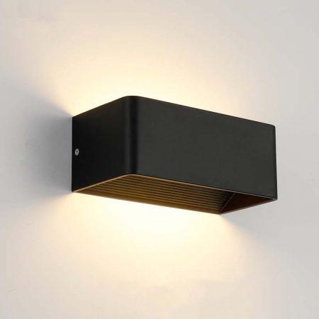 đèn hắt tường hiện đại màu đen hình chữ nhật nhỏ