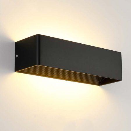 đèn hắt tường hiện đại màu đen hình chữ nhật đơn giản