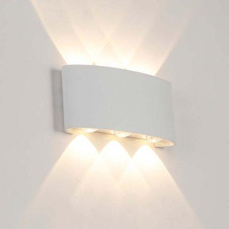đèn hắt tường hiện đại 6 bóng 2 đầu sáng màu trắng