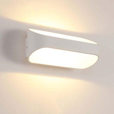 đèn hắt tường hiện đại màu trắng hình chữ nhật