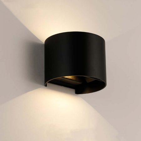 đèn hắt tường hiện đại màu đèn hình tròn bằng nhôm