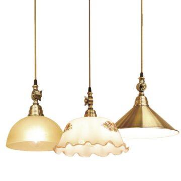 Đèn thả trang trí bàn ăn giả đồng