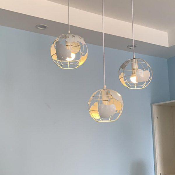 Bộ 3 đèn thả trần trang trí hình quả địa cầu