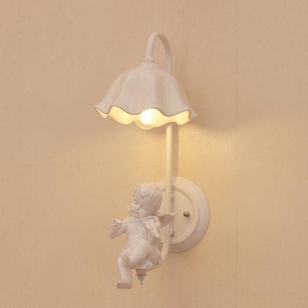 Đèn gắn tường trang trí Thiên thần nhỏ ngồi đàn