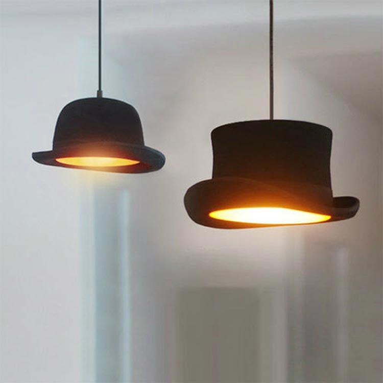 Về cơ bản đèn thả hình chiếc mũ có hai kiểu. Trong mỗi kiểu lại có từ hai đến ba biến thể khác nhau: