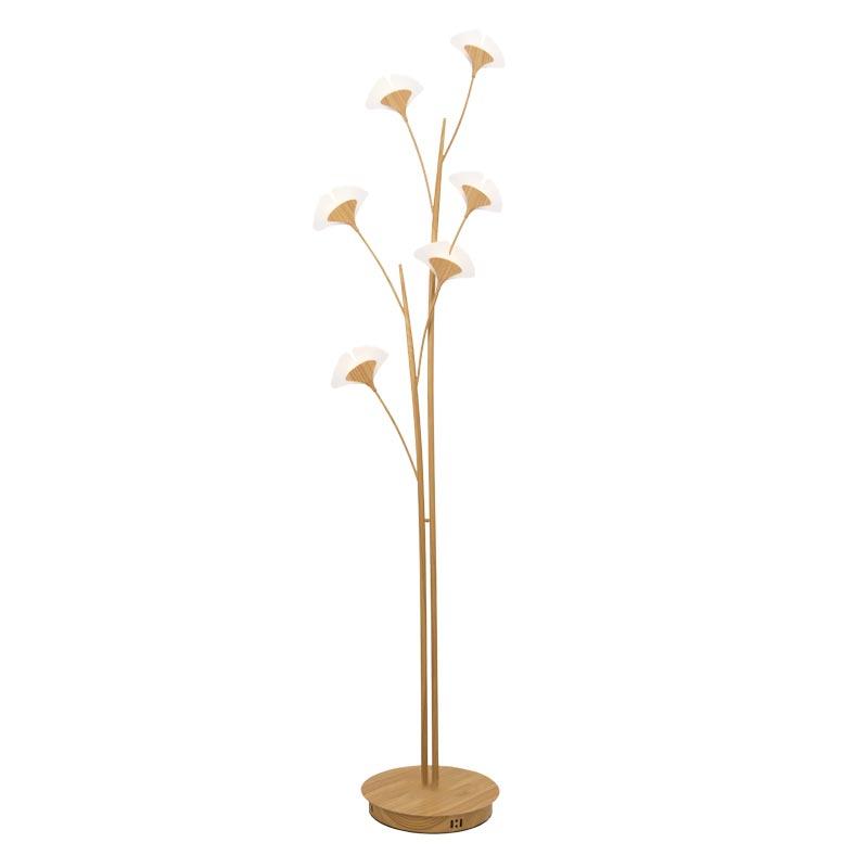 Đèn cây gỗ cao cấp (Hợp kim vân gỗ) trang trí Venus TD50086/6Y