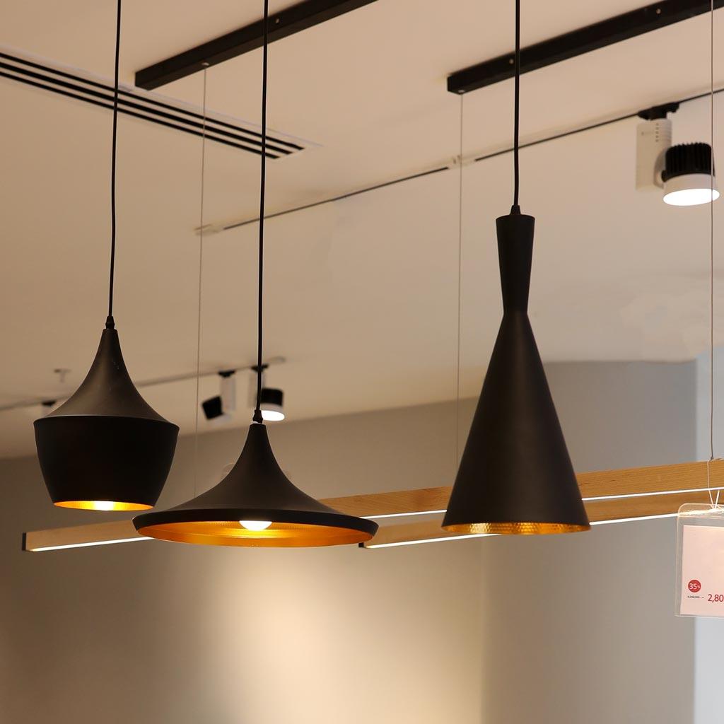 đèn thả bàn ăn chao nhôm hiện đại